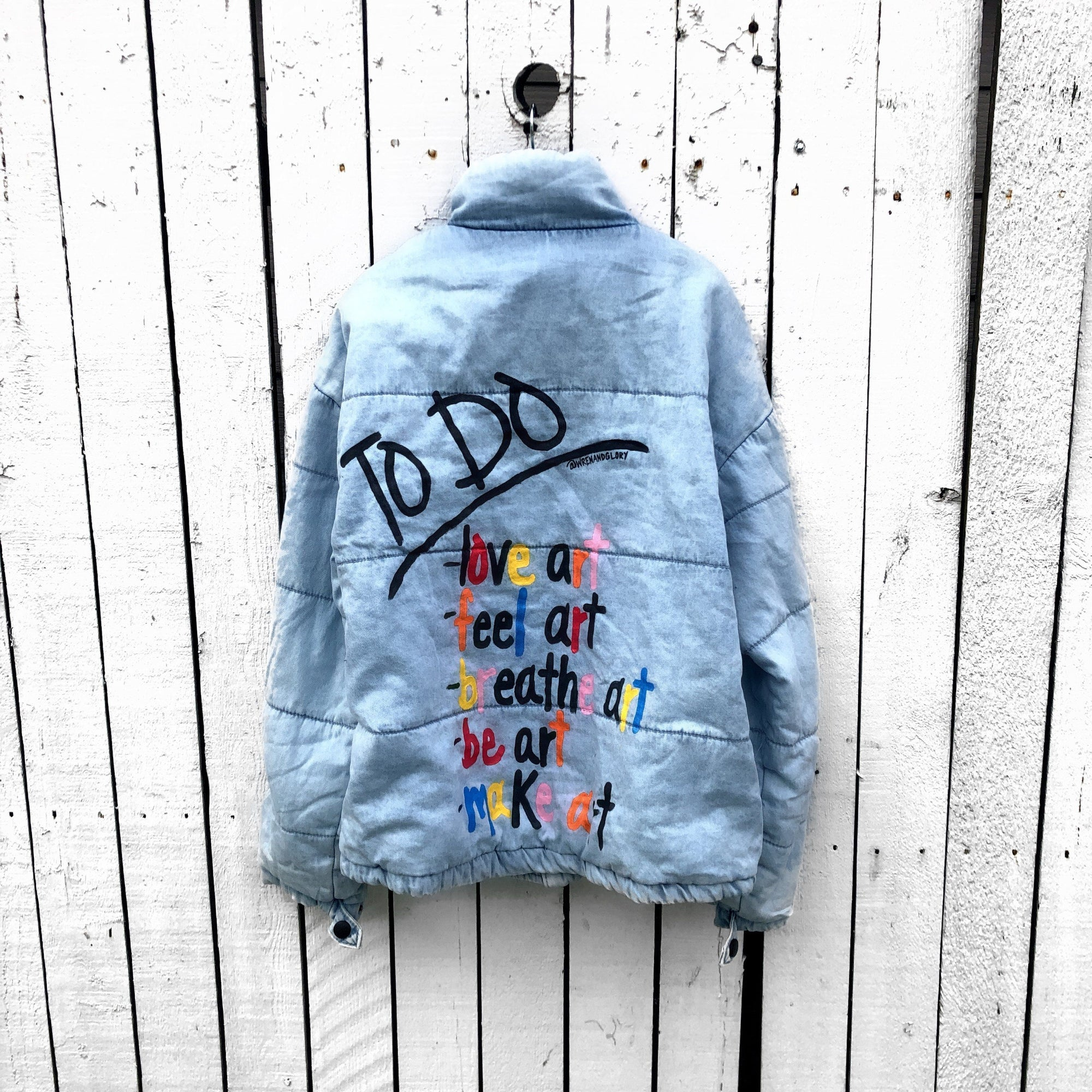 'BEING ART' DENIM PUFFER