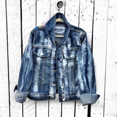 'VIBEZ' DENIM JACKET - Girls