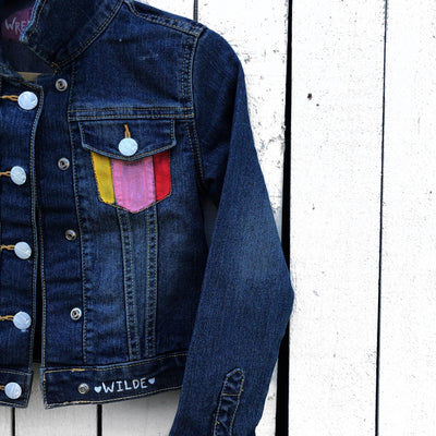 'SLEEPING UNICORN' DENIM JACKET - GIRLS