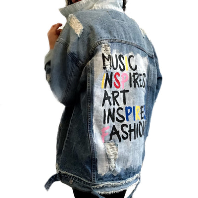 'ALWAYS INSPIRED' DENIM JACKET