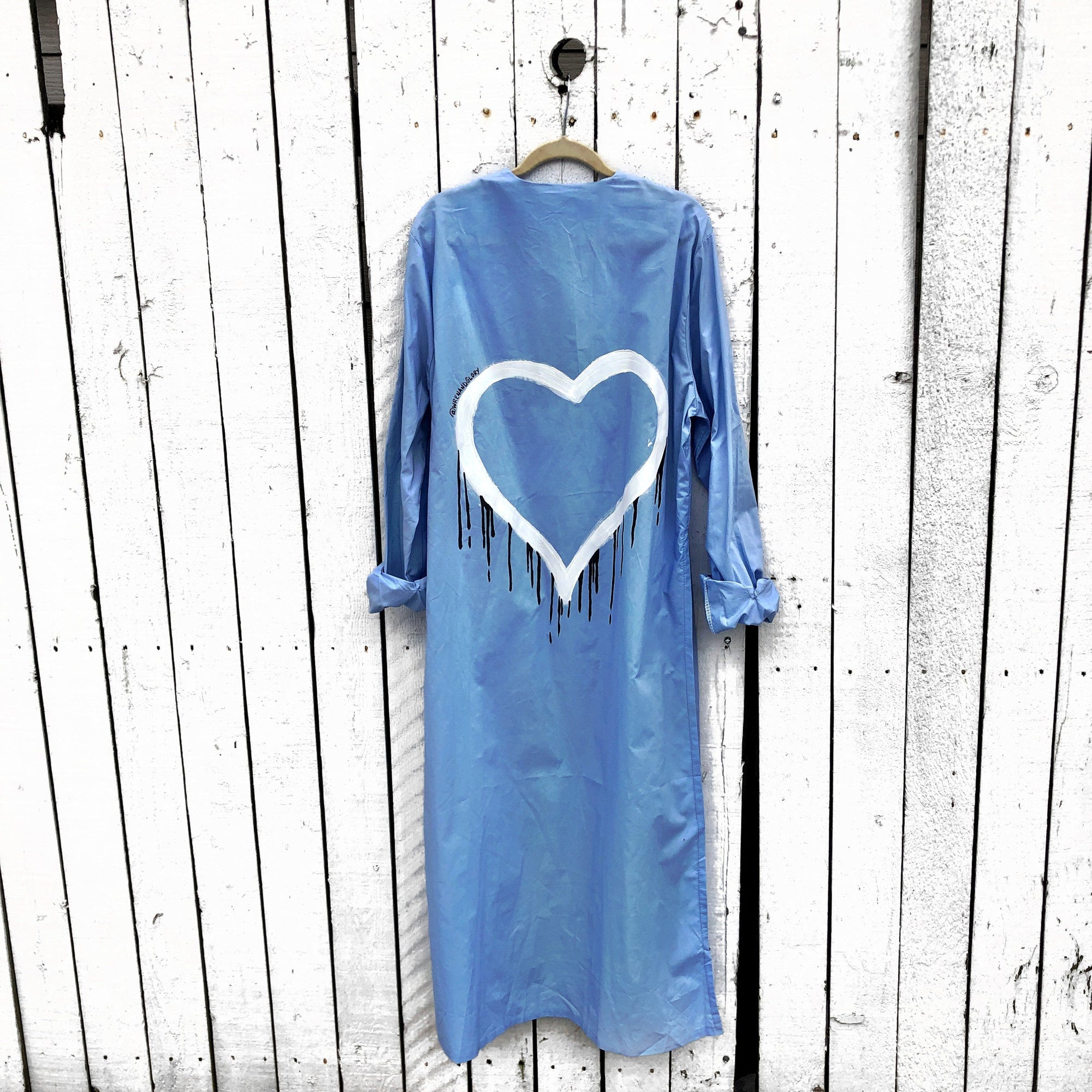 'DRIPPING HEART' PAINTED SHIRT