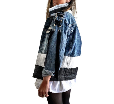 'MOD BLOCK' DENIM JACKET