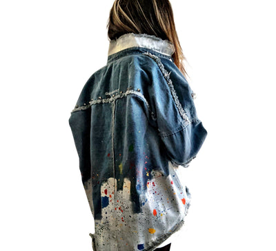 'SPLATTERED' DENIM JACKET