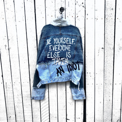 'BE YOURSELF' DENIM JACKET