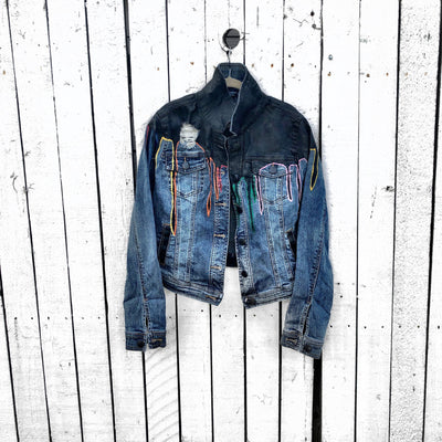 'DRIPPING' DENIM JACKET