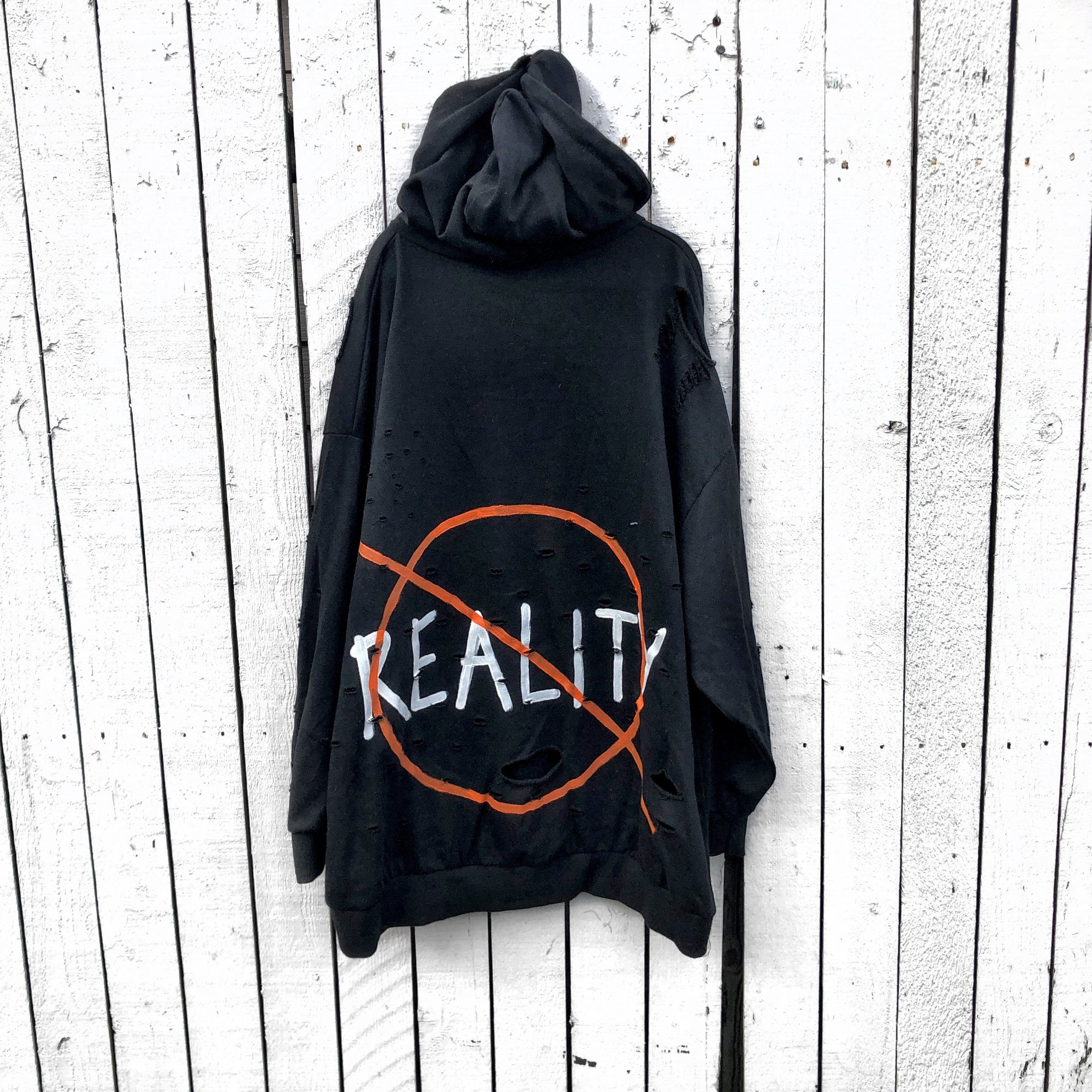 'NO REALITY' PAINTED SWEATSHIRT