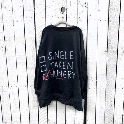'HUNGRY' PAINTED SWEATSHIRT