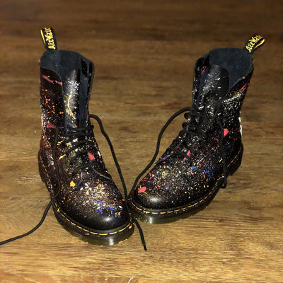'SPLATTER' PAINTED BOOTS
