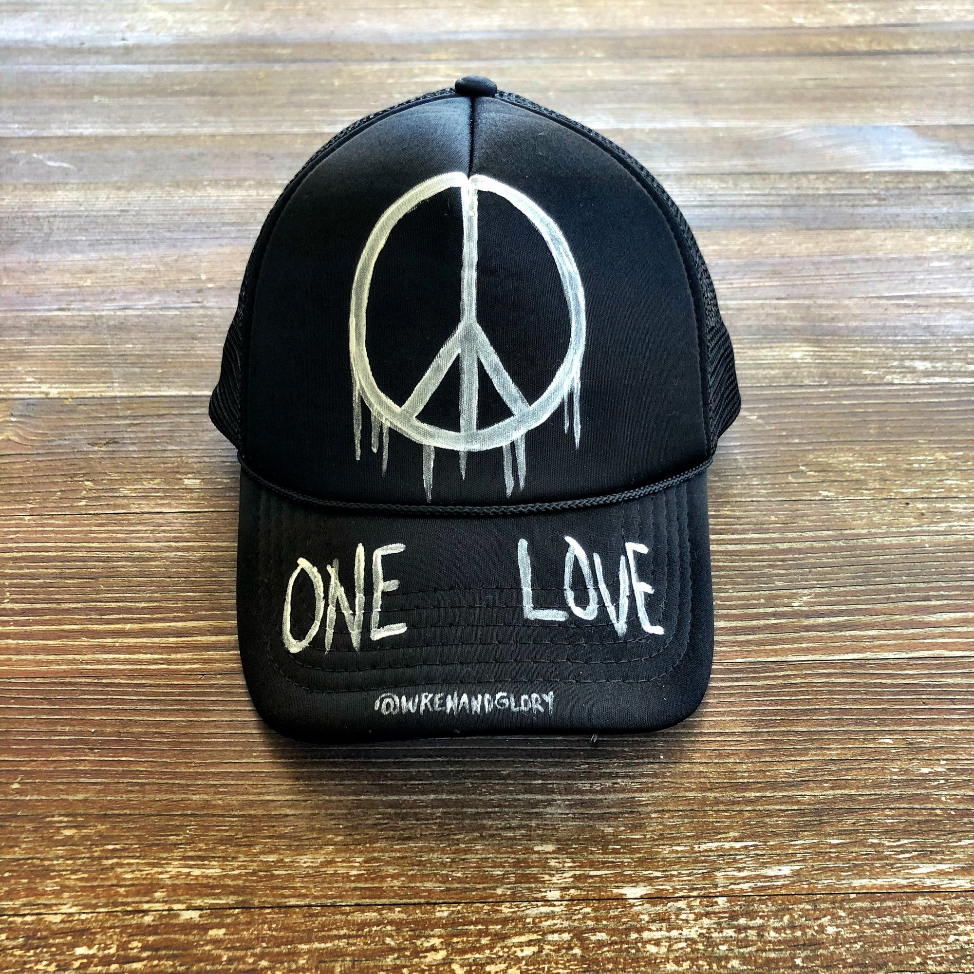 'ONE LOVE' PAINTED HAT