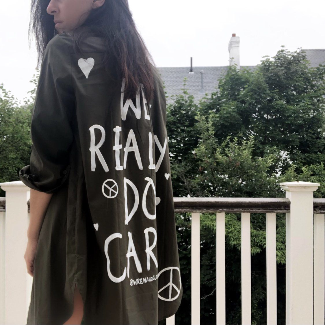 'WE CARE' SHIRT / JACKET