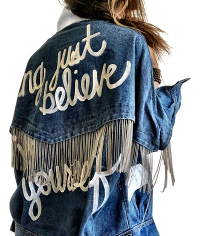 'BELIEVE IT' DENIM JACKET