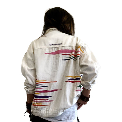 'RAINBOW ZEBRA' DENIM JACKET