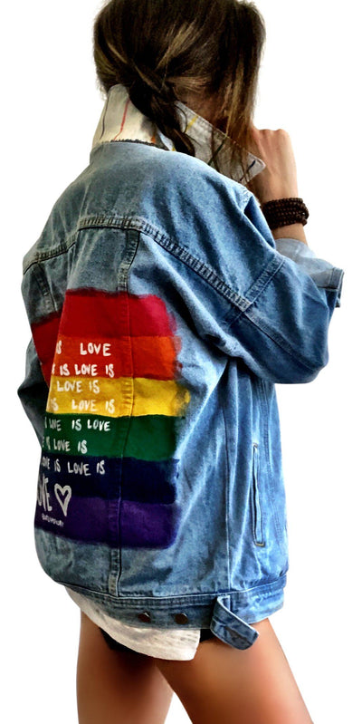 'LOVE IS LOVE, PART 2' DENIM JACKET