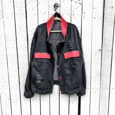'LIP LIFE' DENIM JACKET