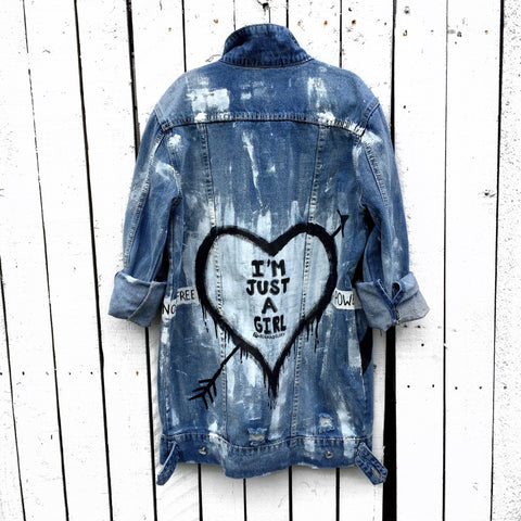 'JUST A GIRL' DENIM JACKET