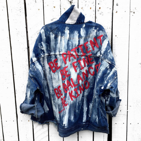 'BE KIND' DENIM JACKET