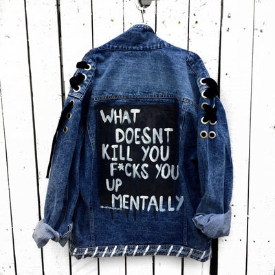 'MENTAL HEALTH' DENIM JACKET