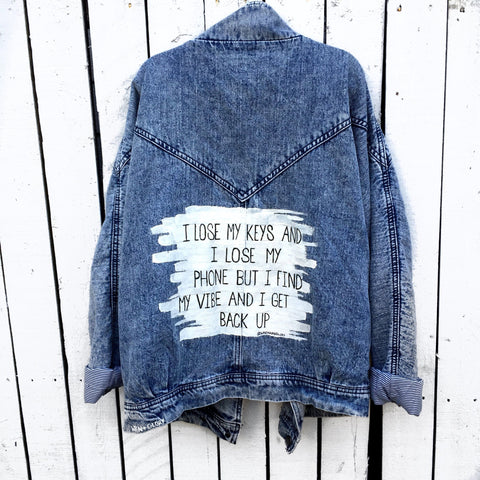 'LOSE MY KEYS' Denim Jacket