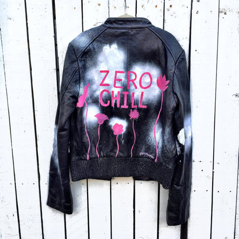 'ZERO CHILL' LEATHER JACKET