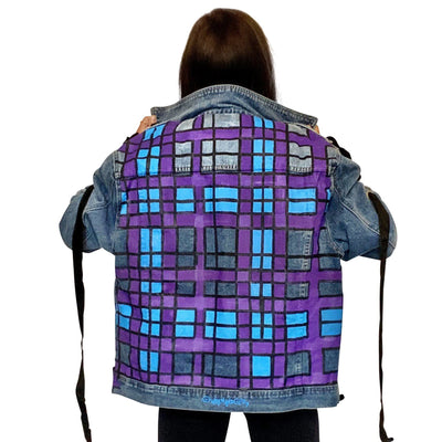 'PLAID INTENTIONS' DENIM JACKET