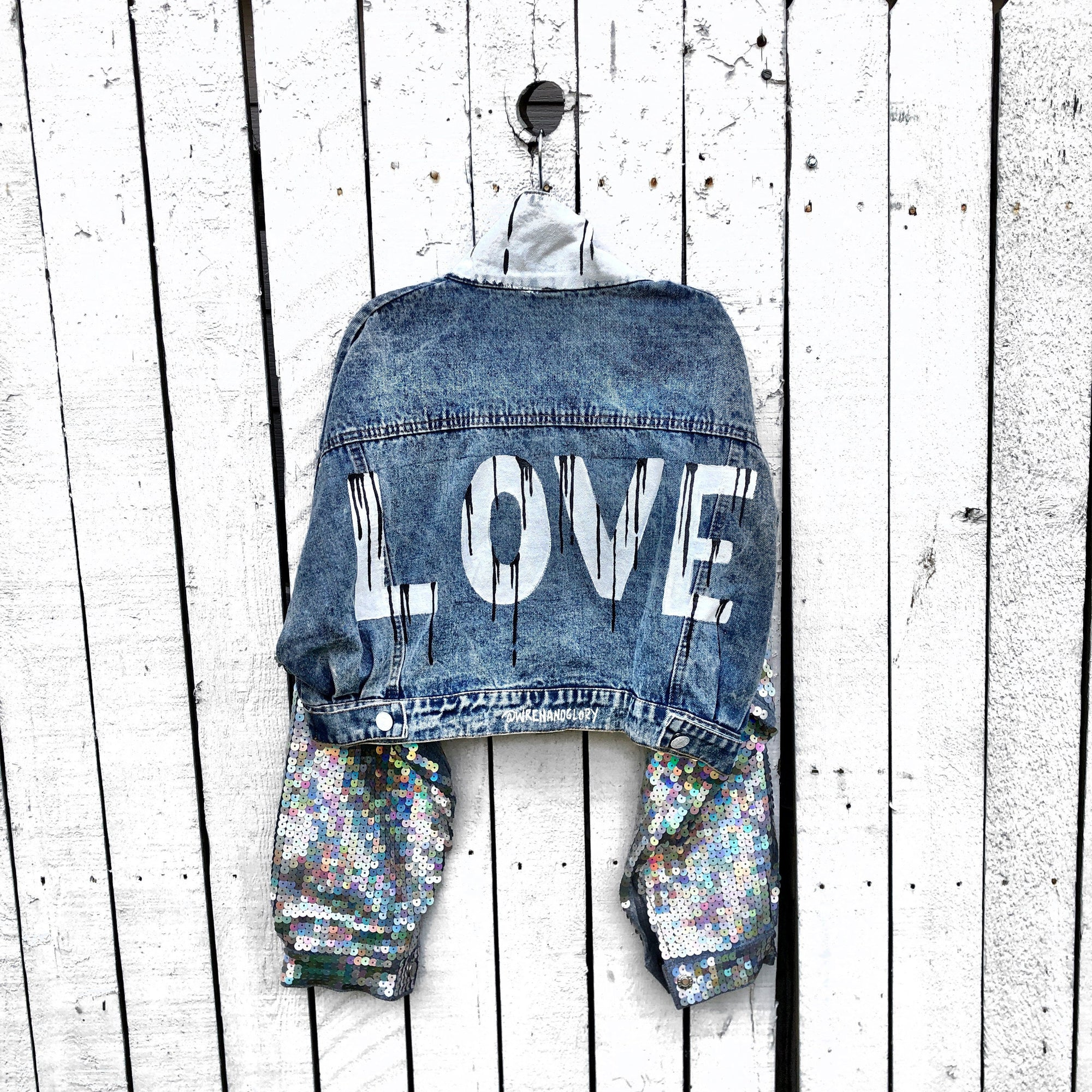'SEQUIN LOVE' DENIM JACKET