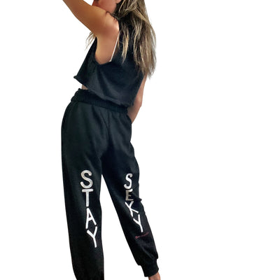 'SEXY GIRL' PAINTED SWEATPANT