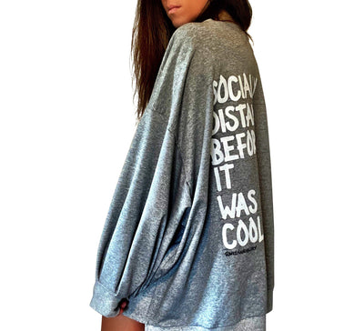 'Socially Distant' Painted Sweater