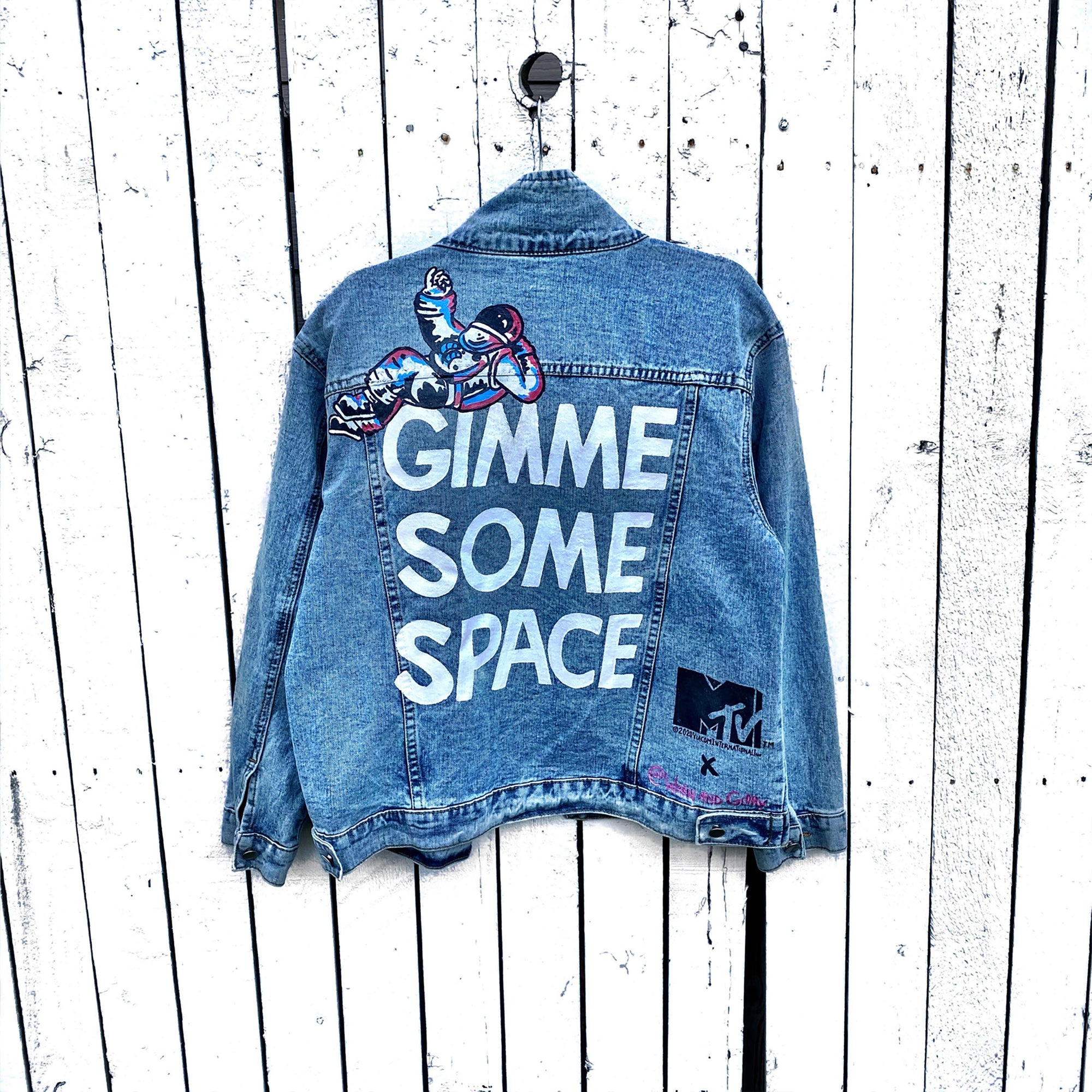 WG x MTV 'SPACE PLEASE' DENIM JACKET