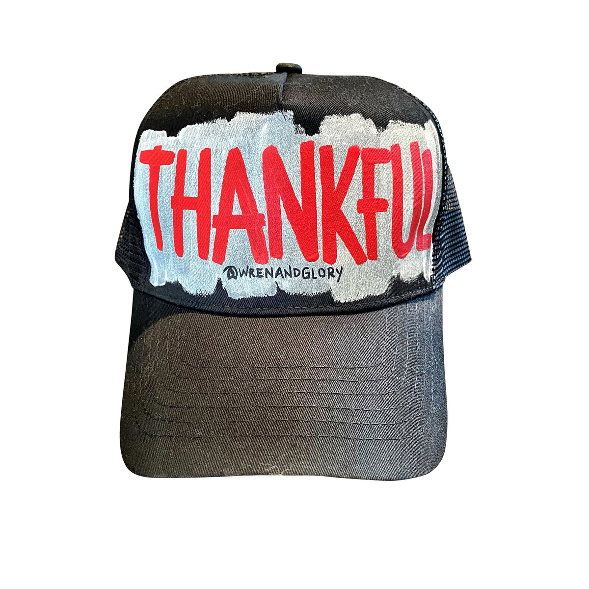 'THANKFUL' PAINTED HAT