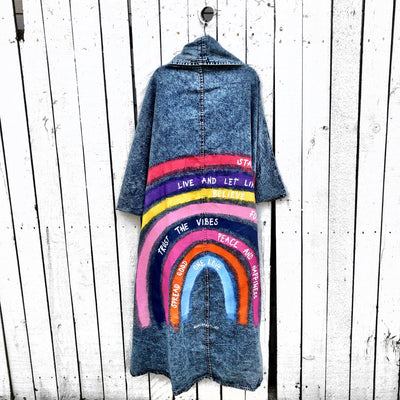'TRUST THE RAINBOW' DENIM JACKET