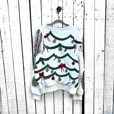 'UGLY XMAS' PAINTED SWEATSHIRT