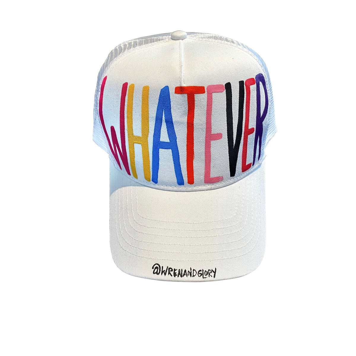 'WHATEVER' PAINTED HAT