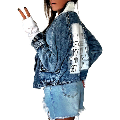 'WHERES MY PHONE' DENIM JACKET