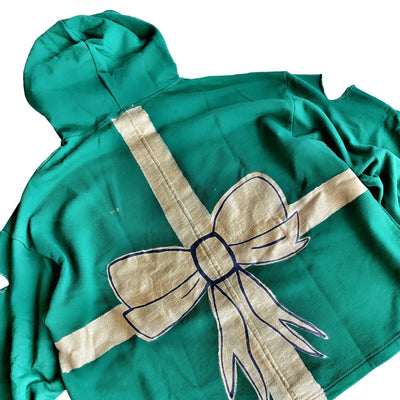 'WRAPPED UP' PAINTED HOODIE