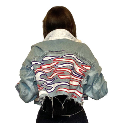 'ZEBRA VIBES' DENIM JACKET