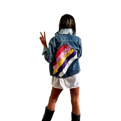 'BRAVE IT' DENIM JACKET