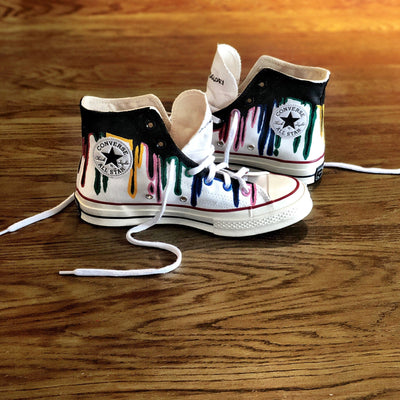 'DRIP' PAINTED HIGH TOPS