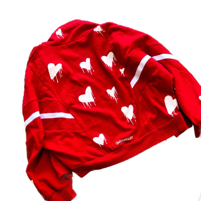 'HEARTED' SWEAT JACKET