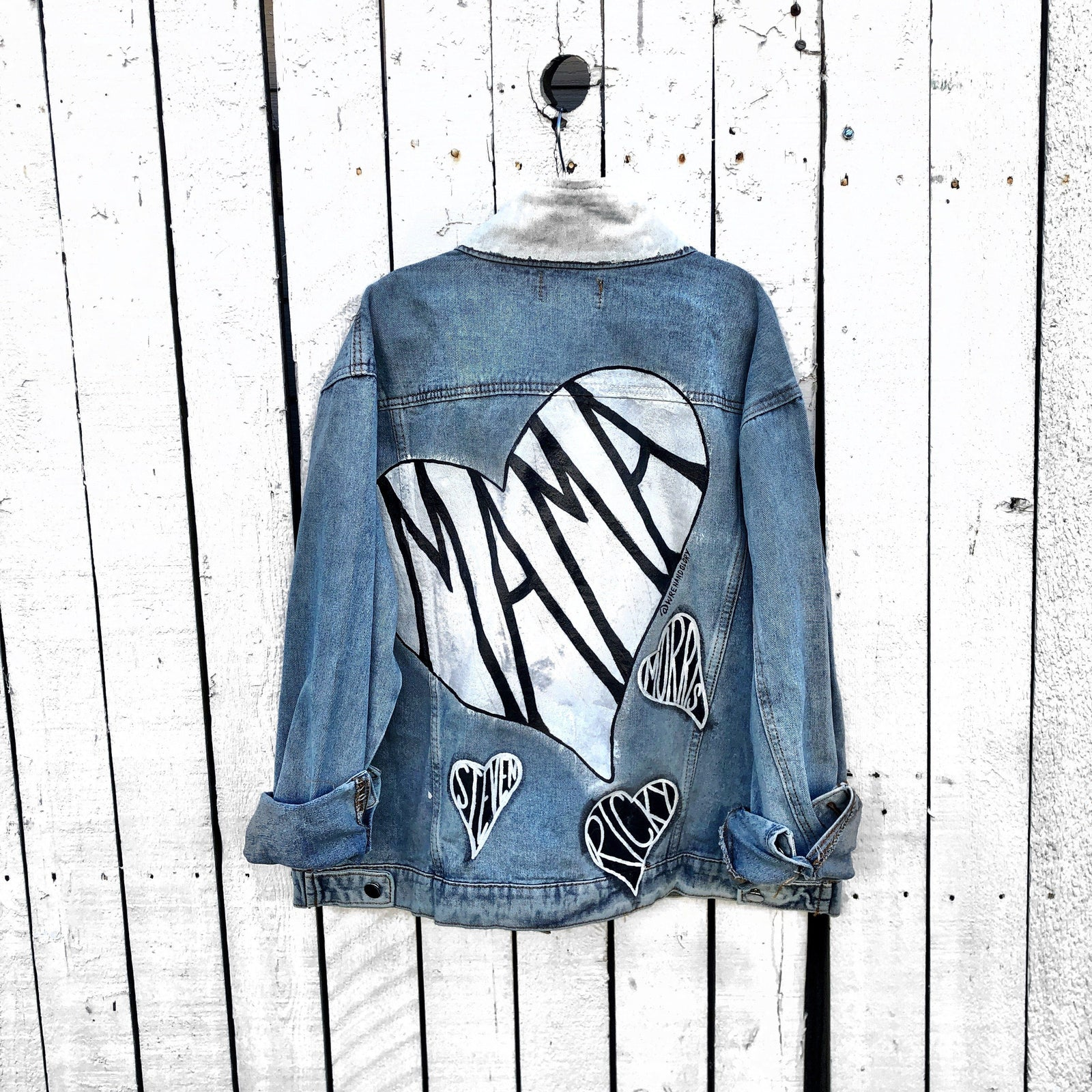 bright in luster new design cute Women's Hand Painted Jackets - Wren + Glory