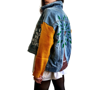 'MY PLANET' DENIM JACKET