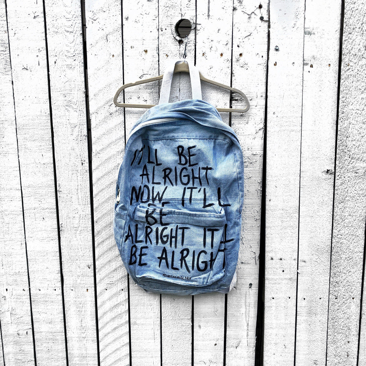 'ARIGHT ARIGHT' PAINTED BACKPACK