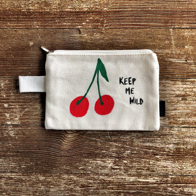 'WILD CHERRY' PAINTED POUCH