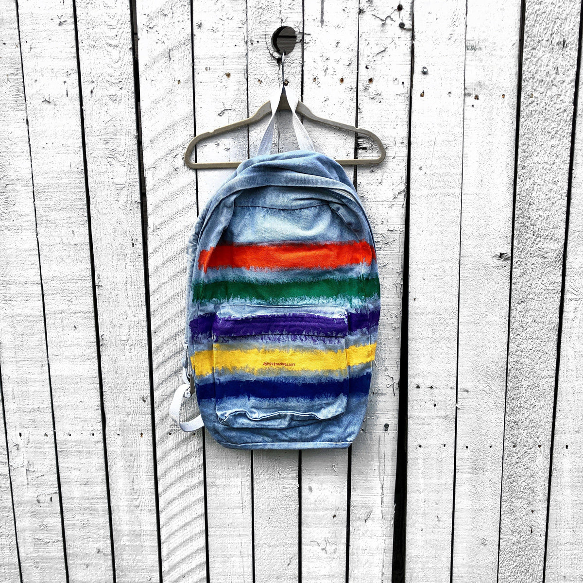 'RAINBOW STRIPE' PAINTED BACKPACK