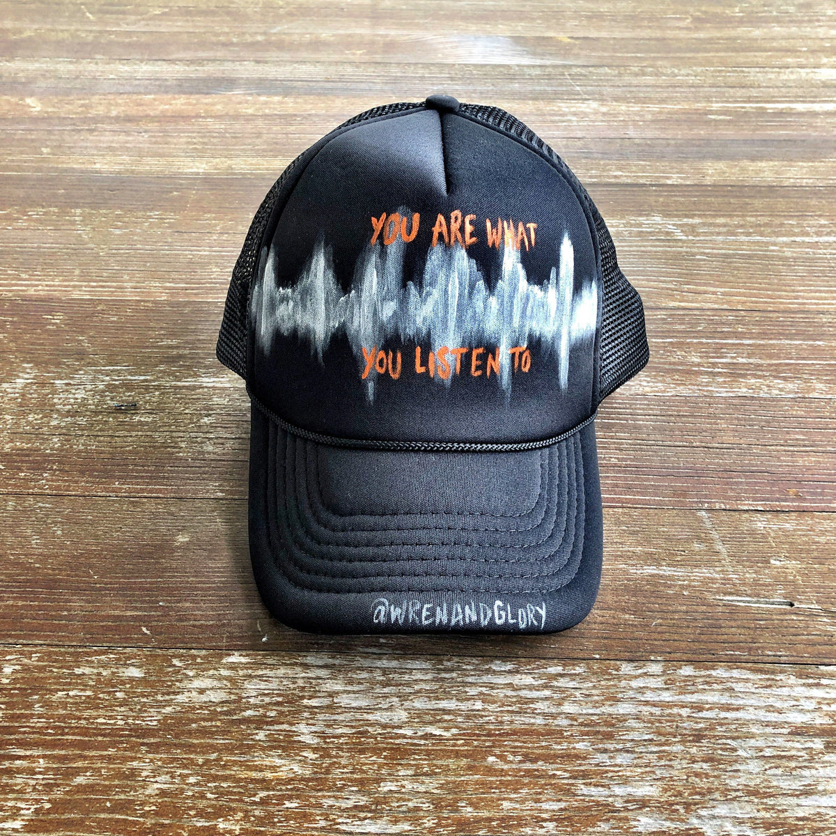 'SOUND WAVES' PAINTED HAT
