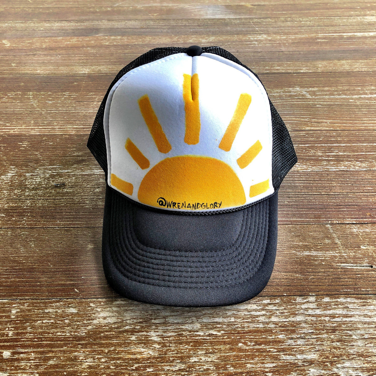 'SUNSHINE' PAINTED HAT