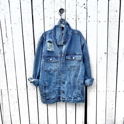 Oversized Blue Denim
