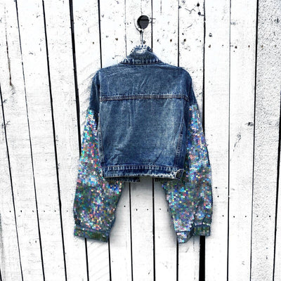 Cropped Denim with Sequin