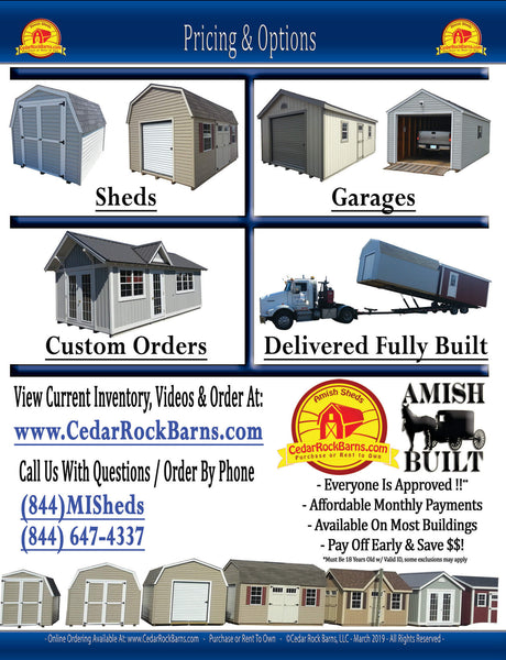 2020 Shed Pricing And Options