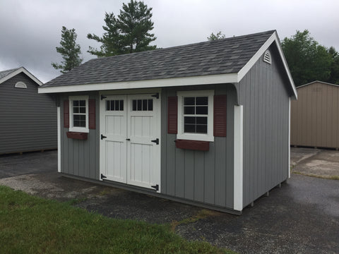 10x16 Painted Carriage House w/ Deluxe