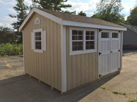 10x12 Painted Cottage Workshop w/ Deluxe Package